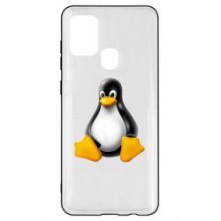 Чохол для Samsung A21s Пингвин Linux