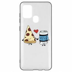 Чохол для Samsung A21s Pizza and beer