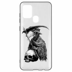 Чехол для Samsung A21s Plague Doctor graphic arts