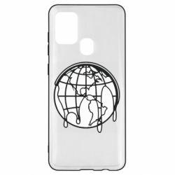 Чехол для Samsung A21s Planet contour