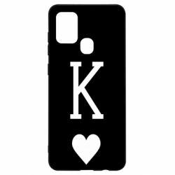 Чохол для Samsung A21s Playing Cards King