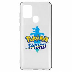 Чехол для Samsung A21s Pokemon sword