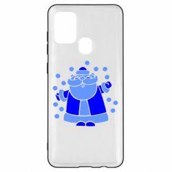 Чохол для Samsung A21s Прикольний дід мороз