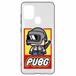 Чехол для Samsung A21s PUBG LEGO