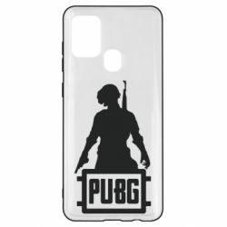 Чехол для Samsung A21s PUBG logo and hero
