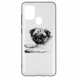 Чохол для Samsung A21s Pug drawing