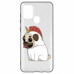 Чехол для Samsung A21s Pug in the suit