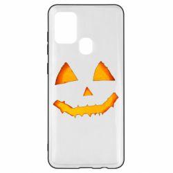 Чохол для Samsung A21s Pumpkin face features