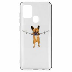Чехол для Samsung A21s Puppy On The Rope