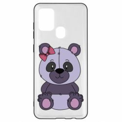 Чохол для Samsung A21s Purple Teddy Bear