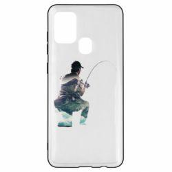 Чохол для Samsung A21s Рибалка на коліні