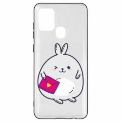 Чохол для Samsung A21s Rabbit with a letter