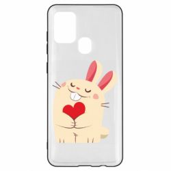 Чехол для Samsung A21s Rabbit with heart