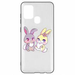 Чохол для Samsung A21s Rabbits In Love