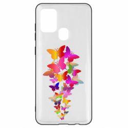 Чохол для Samsung A21s Rainbow butterflies