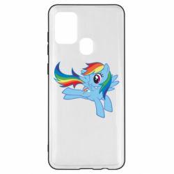 Чохол для Samsung A21s Rainbow Dash run