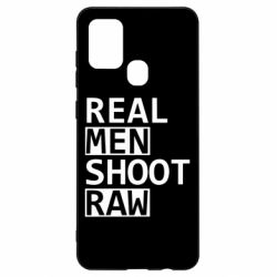 Чохол для Samsung A21s Real Men Shoot RAW