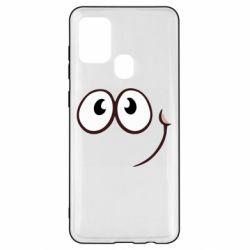 Чохол для Samsung A21s Red ball smile