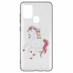 Чохол для Samsung A21s Red eye unicorn