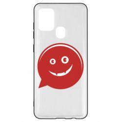 Чехол для Samsung A21s Red smile
