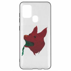 Чехол для Samsung A21s Red zombie dog