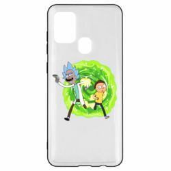 Чохол для Samsung A21s Rick and Morty art