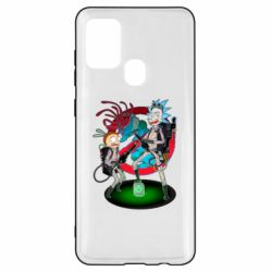 Чохол для Samsung A21s Rick and Morty as Ghostbusters