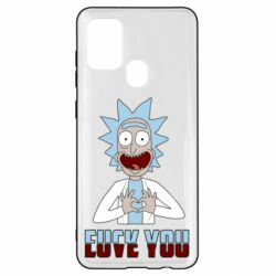 Чохол для Samsung A21s Rick and Morty fack and love you