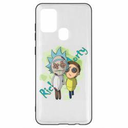 Чохол для Samsung A21s Rick and Morty voodoo doll
