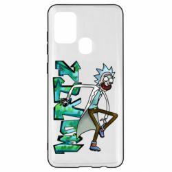 Чохол для Samsung A21s Rick and text Morty