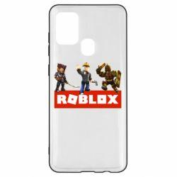 Чехол для Samsung A21s Roblox Heroes