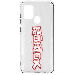 Чехол для Samsung A21s Roblox logo