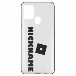 Чехол для Samsung A21s Roblox Your Nickaneme