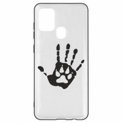 Чехол для Samsung A21s Рука волка