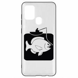 Чехол для Samsung A21s Рыба на крючке