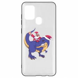 Чехол для Samsung A21s Santa and T-Rex