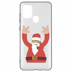 Чохол для Samsung A21s Santa Claus with a tube