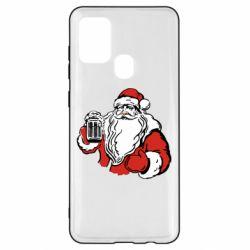 Чехол для Samsung A21s Santa Claus with beer