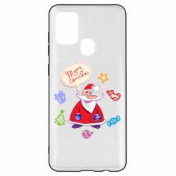 Чехол для Samsung A21s Santa says merry christmas