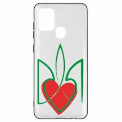 Чехол для Samsung A21s Серце з гербом