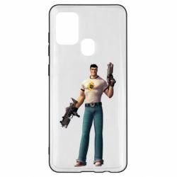 Чехол для Samsung A21s Serious Sam with guns