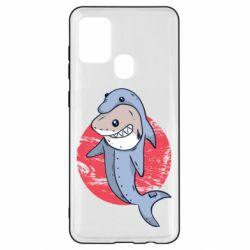 Чехол для Samsung A21s Shark or dolphin