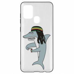 Чохол для Samsung A21s Shark Rastaman