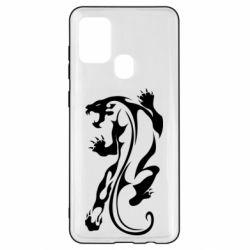 Чехол для Samsung A21s Silhouette of a tiger