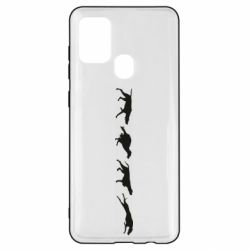 Чехол для Samsung A21s Silhouette of hunting dogs