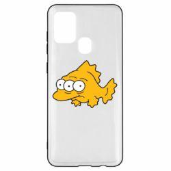 Чехол для Samsung A21s Simpsons three eyed fish