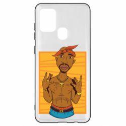Чохол для Samsung A21s Singer Tupac Shakur