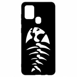 Чехол для Samsung A21s скелет рыбки