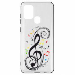 Чехол для Samsung A21s Скрипичный ключ
