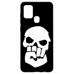 Чехол для Samsung A21s Skull and Fist